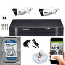 Kit Dvr intelbras de 4 canais com 02 camera  HD -