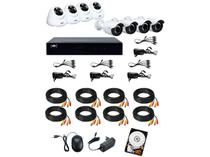 Kit DVR VTV Digital 16 Canais 8 Câmeras Full HD - 1080p 1TB CFTV VTV-03