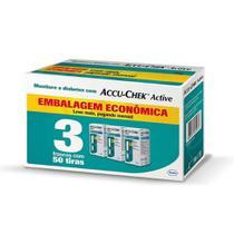 Kit Econômico Tiras Accu Chek Active Roche - 150 Unidades -