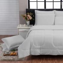 Kit Edredom 200 Fios Italiano 100% algodão 6 peças Dupla Face Casal Queen Casa Dona -