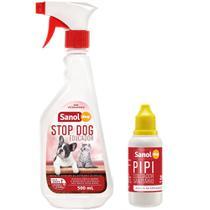 Kit Educador Sanitário Sanol Stop Dog (500 ml) + Pipi Dog (20ml) para Cães - Total Química - Sanol Dog