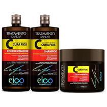 Kit Eico Cura Fios Shampoo Condicionador e Máscara -