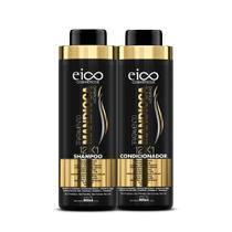 Kit Eico Mandioca 12x1 Shampoo + Condicionador 800ml -