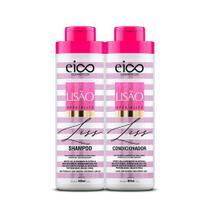 Kit Eico Shampoo e Condicionador Lisão 800ml -