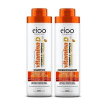 Kit Eico Shampoo E Condicionador Vitamina D 800 Ml -