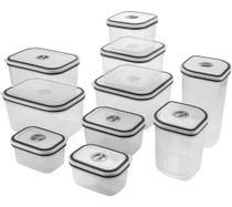 Kit Electrolux com 10 potes de fechamento hermético -