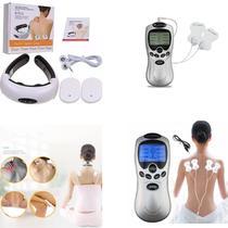 Kit Eletroestimulador Fisioterapia Acupuntura + Massageador - TOP TOTAL