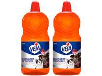 Kit Eliminador de Odores Veja Pets Citrus - 2L 2 unidades