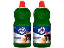 Kit Eliminador de Odores Veja Pets Herbal - 2L 2 Unidades
