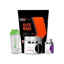 KIT ELITE MASS VOXX 2,56kg (MORANGO) + BCAA + CREATINA - Voxx suplementos