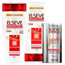 Kit Elseve Reparação Total 5+ LOréal Paris - Shampoo + Condicionador + Cicatri Renov - L'Oréal Paris