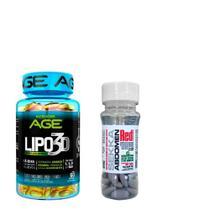 Kit Emagrecedor Lipo 3D Nutrilatina 60Caps + Sekka Abdomen Red Series 30Tabs -