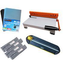 Kit Encadernação - Encadernadora A4-X + Refiladora + Insumos - Marpax