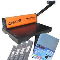 Kit Encadernação Encadernadora PMX-15 + 100 Capas e Espirais - Marpax
