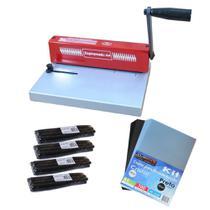 Kit Encadernadora A4 Espiramatic + 100 Capas + 100 Espirais - Marpax