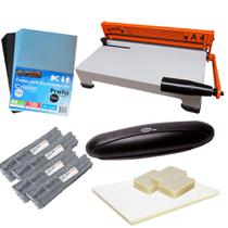 Kit Encadernadora A4-X + Plastificadora Compact + Insumo 220 - Marpax