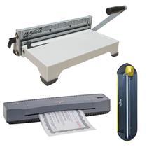 Kit Encadernadora + Plastificadora A3 + Refiladora 4x1 220V -