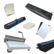 Kit Encadernadora Plastificadora A3 + Refiladora + Insumos - Aurora