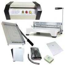Kit encadernadora /plastificadora oficio/guilhotina e material - Goldmaq