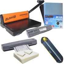 Kit Encadernadora , Plastificadora, Refiladora, Insumos Marpax 220V -