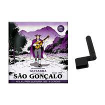 Kit Encordoamento 009 Super Leve para Guitarra + Encordoador - São Gonçalo