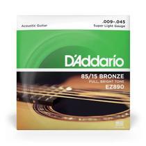 Kit Encordoamento Corda Daddario Violão 009 + Limpa Cordas -