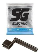 Kit Encordoamento Corda Guitarra 0.11 011 Sg + Encordoador -
