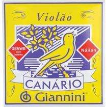 Kit Encordoamento Giannini Nylon Violão + 4 Palhetas -