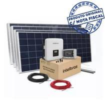 Kit Energia Solar Intelbras Com 6 Painéis Fotovoltaicos -