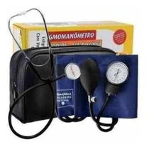 Kit Enfermagem Acadêmico Esfigmomanômetro + Estetoscópio Completo - Premium