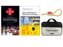 Kit Enfermagem: Ame Dicionário de Administração de Medicamentos  11ª Ed+ Cálculo e Administração de Medicamentos+ Bolsa - Editora martinari