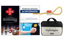 Kit Enfermagem: Ame Dicionário de Administração de Medicamentos 11ª Ed+ Técnicas Básicas de Enfermagem + Bolsa JRMED - Editora Martinari