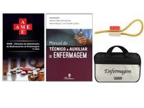 Kit Enfermagem: Ame Dicionário de Administração de Medicamentos 11ª Edição + Manual do Técnico E Auxiliar + Bolsa JRMED - Editora martinari