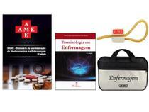 Kit Enfermagem: Ame Dicionário de Administração de Medicamentos 11ª Edição + Terminologia na Enfermagem+ Bolsa JRMED - Editora martinari