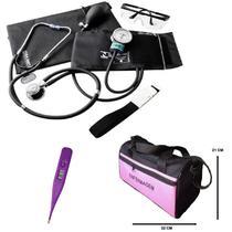 Kit enfermagem aparelho de pressão esteto bolsa pamed -