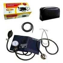 Kit Enfermagem Aparelho De Pressão Esteto Premium + Garrote -
