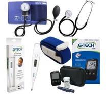 Kit Enfermagem + Aparelho Medidor Glicose Completo Premium -