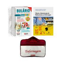 Kit Enfermagem: Bulário Detalhado +  Cálculo e Administração de Medicamentos na Enfermagem 5ª Edição + Bolsa JRMED - Várias