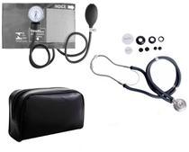 Kit Enfermagem Com Aparelho De Pressão E Estetoscópio Rappaport Grafite - Premium