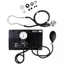 Kit Enfermagem Com Esfigmomanômetro + Estetoscopio Duplo Rappaport Premium -