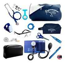 Kit Enfermagem Completo Com Aparelho De Medir Pressão - Premium