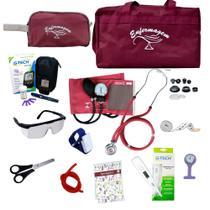 Kit Enfermagem Completo Com Kit Medidor De Glicose G-tech - Premium