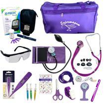 Kit Enfermagem Cores Bolsa Top P.A.med + Medidor de Glicose -