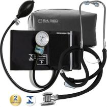 Kit Enfermagem Esfigmomanometro Aparelho De Medir Pressão Arterial + Estetoscópio Rappaport Duplo  P. A. MED - P.A MED