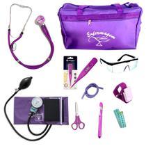 Kit Enfermagem mod.18 Aparelho de Pressão P.A.MED Cor:Roxa Bolsa:Tipo 2 - Pa Med / Incoterm