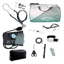 Kit Enfermagem mod.18 Aparelho de Pressão Premium Cor:Cinza - Premium / G-Tech