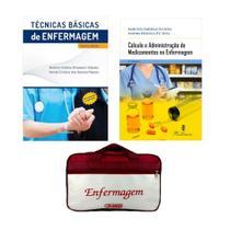 KIT ENFERMAGEM: TÉCNICAS BÁSICAS DE ENFERMAGEM 5ª ED.+ CÁLCULO E ADMINISTRAÇÃO DE MEDICAMENTOS 5ª ED + BOLSA JRMED - Editora martinari