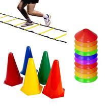 Kit Escada + 20 Cones + 20 Half Cone Funcional Rythmoon -