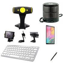 "Kit Escola para Samsung Galaxy Tab A T510/T515 10.1"" Suporte/Can/Pel/Teclado/Mini Speaker - Global Cases"