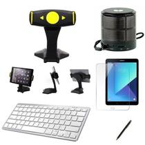 "Kit Escola para Samsung Galaxy Tab S3 T820/T825 9,7"" Suporte/Can/Pel/Teclado/Mini Speaker - Global Cases"